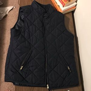 Navy Puffer Vest Crown and Ivy